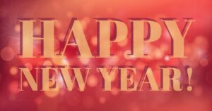 happy new year sign for shrub and tree blog